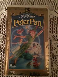 Peter Pan Vhs 45th Anniversary Walt Disney Masterpiece