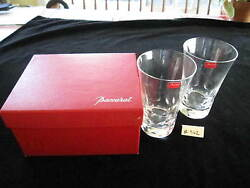 Baccarat Pair Beluga Highball Glasses 5 1/2 W/box Excellent Condition