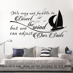 Adjust our Sails Motivational quote wall Nursery decor School wall stickers
