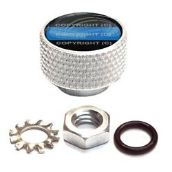 Silver Billet Aluminum Knurled Horn Cover Nut For Twin Cam - Blue Line Pd