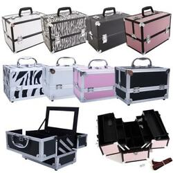 9quot; 14quot; Handle Aluminum Makeup Train Case Jewelry Box Cosmetic Organizer Storage $18.99