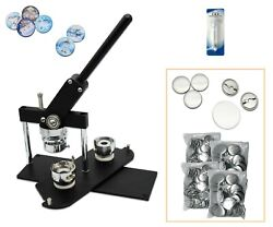 Kit-37mm 1. Badge Button Maker-b400+round Mould+200 Pin Parts+circle Cutter