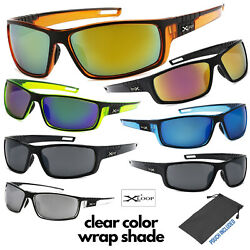 Men#x27;s Xloop Clear Color Frame Sports Wrap Small Face Biking Golf Sunglasses $8.95