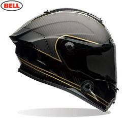 Bell Race Star Speed Check With Protint Visor Black/gold Ace Cafe Carbon Helmet