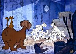 disney animation cel 101 dalmatians warm reunion rare limited edition art cell