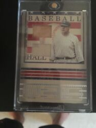 2005 Donruss Signature Series Babe Ruth Bat Jersey With Pinstripe Hall Of Fame