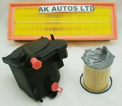 For Citroen C4 Picasso 1.6 Hdi Td 07 3pc Service Parts Oil Air Fuel Filter Kit