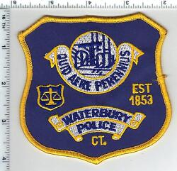 Waterbury Police Connecticut Shoulder Patch - Old Style