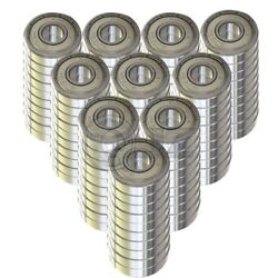 [qty.100] New Ss6203-zz Metal Shielded Stainless Ball Bearing 17mm X 40mm X 12mm