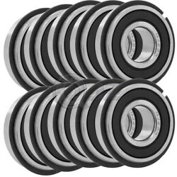 10x 6311-2rs Ball Bearing 55mm X 120mm X 29mm Rubber Seal Rs 2rs W/ Snap Ring