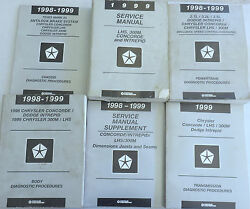 1999 Chrysler LHS 300M Concorde Intrepid Service Repair Manual OEM Factory Set