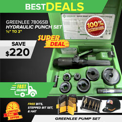 Greenlee 7806sb Hydraulic Punch Driver Kit 1/2 - 2, Preowned,fast Shipping