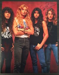 Gfa Dave Mustaine Ellefson And Marty Megadeth Signed 11x14 Photo Proof M2 Coa