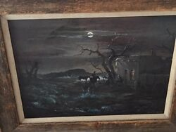 Beautiful And Collectable Original Oil Painting By Carl J Smith
