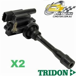 Tridon Ignition Coil X2 For Mirage Ce Series Ii 10/98-08/04 4 1.5l 4g15