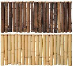 Black Or Natural Bamboo Garden Border Edging Even Style 12 Tall X 6and039 Long