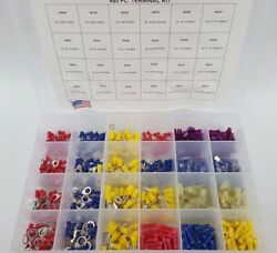 Mvp 480 Piece Vinyl Insulated Electrical Wire Terminal Assortment Kit