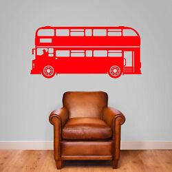 London Bus Old Style Buses Transport New Children Street Wall Stickers Decals B6