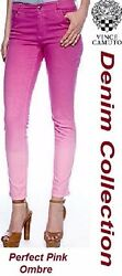 Two By Vince Camuto Perfect Pink Dip Dye Ombre Skinny Stretch Denim Jeans - 99
