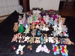 Lot Of 114 Ty Beanie Babies - With Princess Millenium And Much More