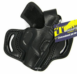 TAGUA BLACK LEATHER RIGHT HAND THUMB BREAK OWB BELT HOLSTER for KEL-TEC P3AT 380
