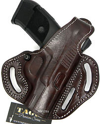 TAGUA PREMIUM RH OWB 2-Way Thumb Break Belt Holster Brown Leather - Choose Gun