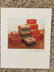 Andy Warhol Signed Print Heinz Del Monte And Campbelland039s Boxes 1986 - Coa