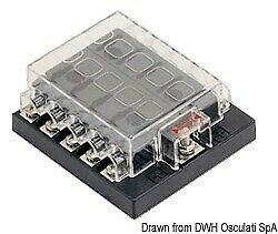 Standard Blade Fuse Holder Box with 10 Fuse Housings and Contacts Osculati