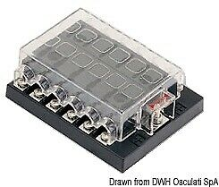 Standard Blade Fuse Holder Box with 12 Fuse Housings and Contacts Osculati
