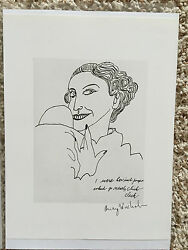 Andy Warhol, Signed Print, I Were Her Inch Pumps Where Go Neatly Clack, Coa