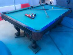 2008 Contender Brunswick 8and039 Pool Table
