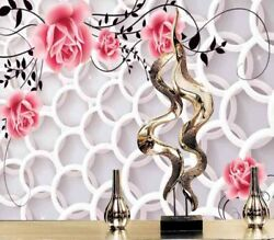 Gorgeous Pink Rose 3d Full Wall Mural Photo Wallpaper Printing Home Kids Decor