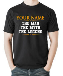 [Personalized] Your Name The Men The Myth The Legend - Men's T-shirts