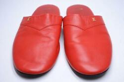Supreme X Louis Vuitton Red Hugh Slippers Slip On Shoes Size 8