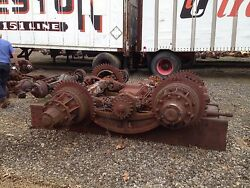 Sterling Chain Drive Vintage Truck Rear Tandem Axle Assembly, Used, 1940's