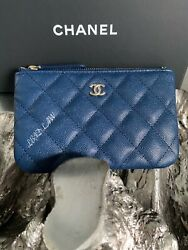 NWT CHANEL 2017 Gold Crystal Camellia Flower Lamb WOC Wallet On Chain Lambskin