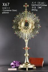 Rare Fine Large Monstrance Ornate Beautiful And Affordable 37 High X67