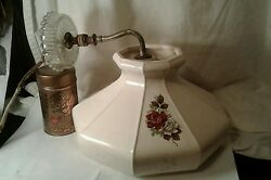 Vintage Wall Mount Rose Flower Lamp Chandelier Thick Glass Reading Light