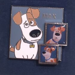 The Secret Life Of Pets Max Terrier Mix Portrait And Photographs Metal Pin