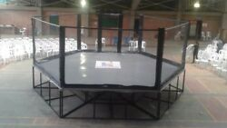 Deluxe MMA Fighting Cage - heavy duty wrought iron frame w/padded wood floor