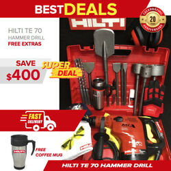 Hilti Te 70 Atc Hammer Drill, Preowned, Free Gloves,bits,extras, Quick Ship