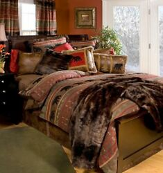 Carstens Bear Country Cabin Rustic Comforter Set With Free Valance And Shipping