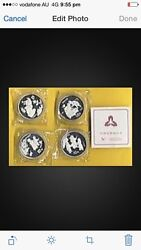 4pc China 1994 Children At Play Silver Coins
