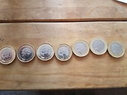 New 12 Sided Andpound1 Coins With Wrong Date Dated 2016 Includes 3 Wrong Colour Coins