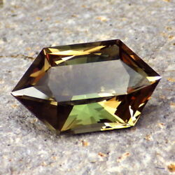 Green-orange Multicolor Oregon Sunstone 10.13ct Flawless-extremely Rare Colors