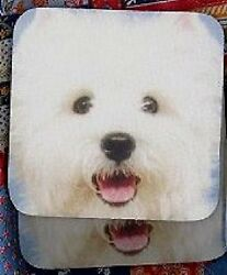 WEST HIGHLAND TERRIER WESTIE Rubber Backed Coasters #3011