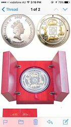 2005 Cook Islands Gods Of North South East And West Kilo Gilded Silver Coin Rare