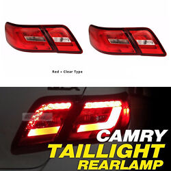 Rear Led Tail Lights Lamps For 2006-2011 Toyota Camry Tail Lamp Red Clear Color
