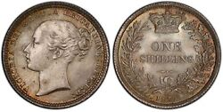 Great Britain. Victoria. 1872 Ar Shilling. Pcgs Ms66. Km 734.2 S3906a Die 98