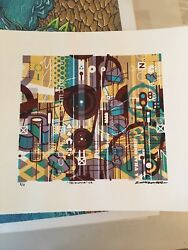 Scott Campbell Yes I Could Variant Abstract Art Print Phish 3/3